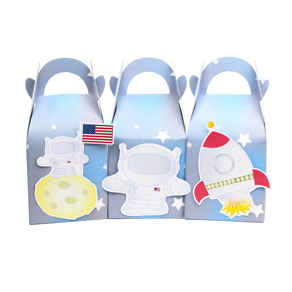 Space  Favor Box Candy Box Gift Box Cupcake Box Boy Kids Birthday Party Supplies Decoration Event Party Supplies