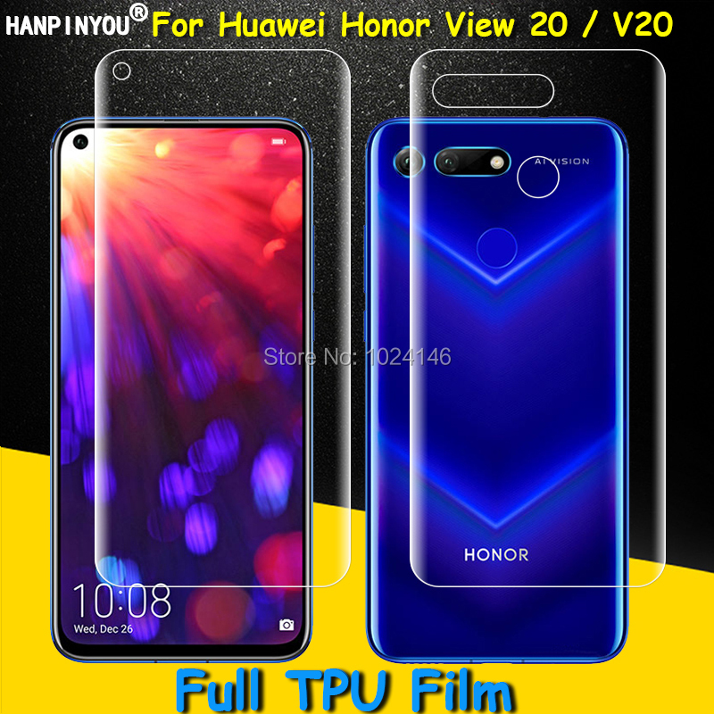 Front / Back Full Coverage Clear Soft TPU Film Screen Protector For Huawei Honor View 20 / V20 6.4 (Not Tempered Glass)Front / Back Full Coverage Clear Soft TPU Film Screen Protector For Huawei Honor View 20 / V20 6.4 (Not Tempered Glass)