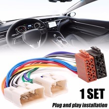 Car ISO Radio Wiring Harness Stereo Radio Plug Adaptor Wiring Connector For Toyota Receiver Wire Harness Cable dewtreetali car vehicles radio stereo iso to din aerial antenna mast adaptor connector plug car stying accessories