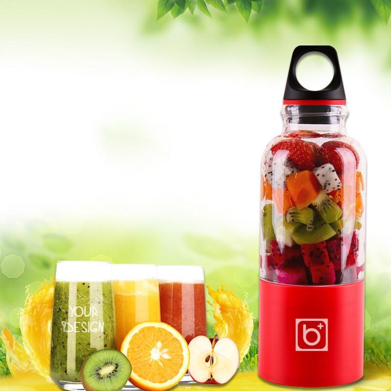 500 ml portátil exprimidor Copa USB recargable eléctrico automático Bingo hortalizas jugo de fruta herramienta de taza de licuadora de botella