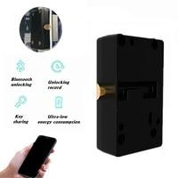 Smart Keyless Electronic Password bluetooth Cabinet Locks Mobile Phone APP Door Drawer Locks Auto Safety Secure Anti Theft
