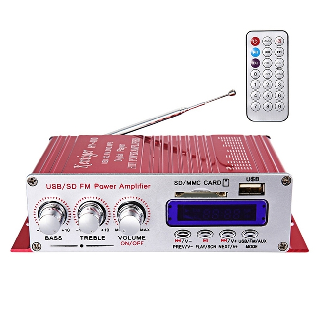 Kentiger Hy-400 Hi-Fi Car Stereo Amplifier Radio Mp3 Speaker With Fm Lcd Display Power Player For Auto Motorcycle Remote Contr