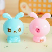 Ellen Brook 1 Piece Lovely Cute Kawaii Candy Color Rabbit Cat Sharpeners Korean Stationery School Office Supply Novelty Kid Gift(China)