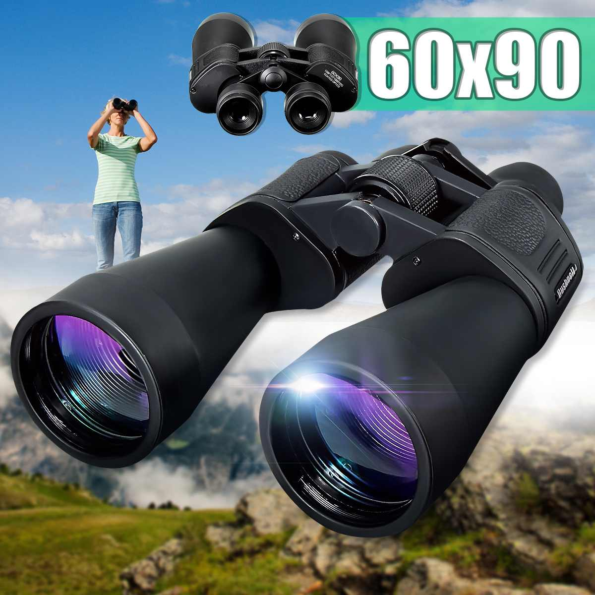Zoom Telescope 60x90 Day&Night Vision Binoculars Professional Binoculars High Quality Eyepiece for Outdoor HuntingZoom Telescope 60x90 Day&Night Vision Binoculars Professional Binoculars High Quality Eyepiece for Outdoor Hunting