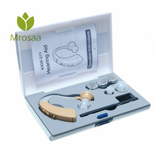 Elder Digital Ear Hook BTE Hearing Aid Kit Power Saving Sound Voice Amplifier Health Hearing Aids