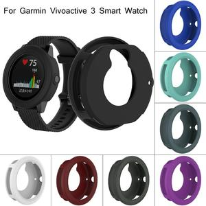 Image 3 - Silicone Protector Case Smart Watch High Quality Cover Shell 8 Colors For Garmin Vivoactive 3 Smart Watch Diameter 45.4MM
