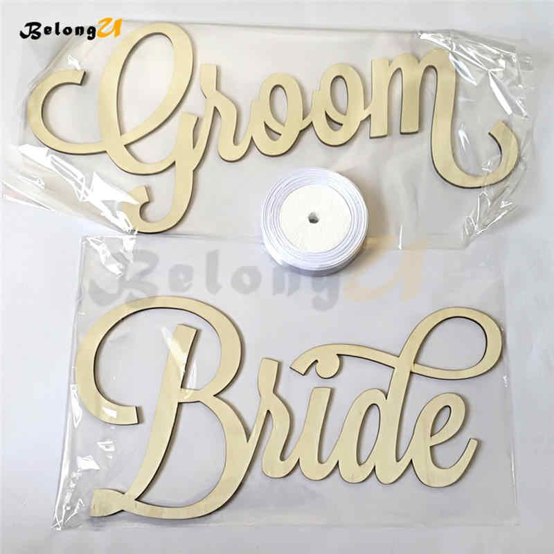2 個花嫁新郎看板フォトブース結婚式の装飾パーティーの装飾素朴な装飾用品椅子結婚式の装飾