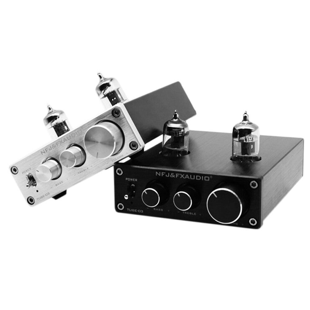 FX-audio Tubo-03 80 W Bile Preamplificatore 6j1 Tubo Elettronico Amplificatore HiFi Digitale Treble & Bass Metallo amplificatore Audio 12V1AFX-audio Tubo-03 80 W Bile Preamplificatore 6j1 Tubo Elettronico Amplificatore HiFi Digitale Treble & Bass Metallo amplificatore Audio 12V1A