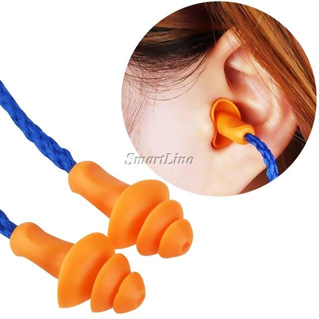 301baab62732a Pugs Orelha de Silicone suave Com Fio Protetor de Proteção Auditiva Tampões  de Ouvido de Redução