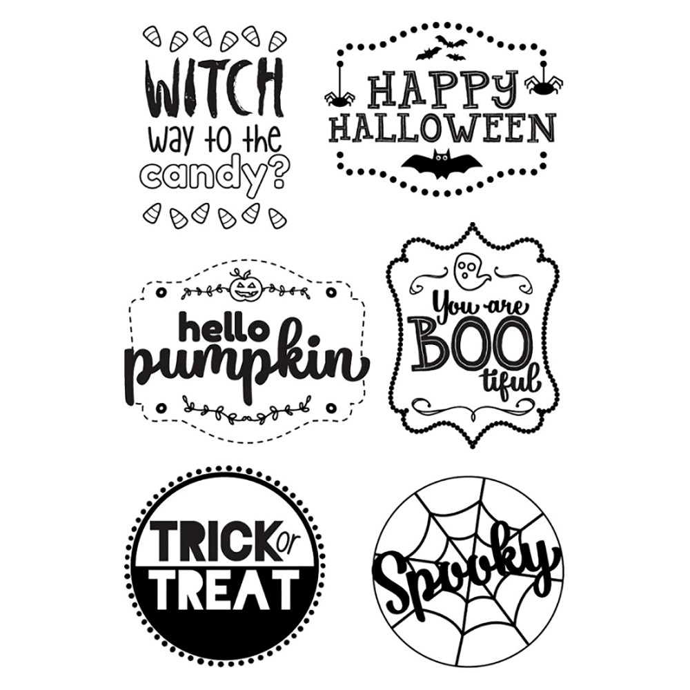 Halloween Transparent Clear Silicone Stamp Seal for DIY scrapbooking photo album Decorative clear stamp in Stamps from Home Garden