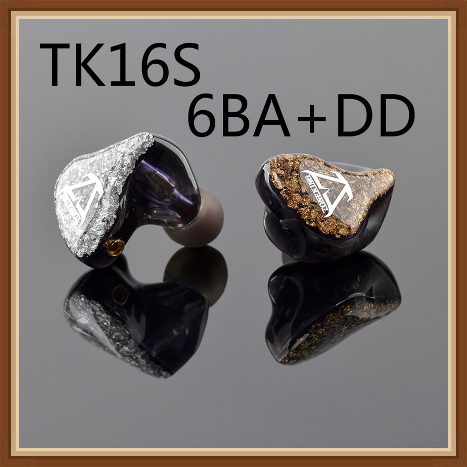 2019 Toneking TK16S Knowles 6 Balanced Armature Danymic Hybrid 6BA DD 14 unit Hifi Music Monitor
