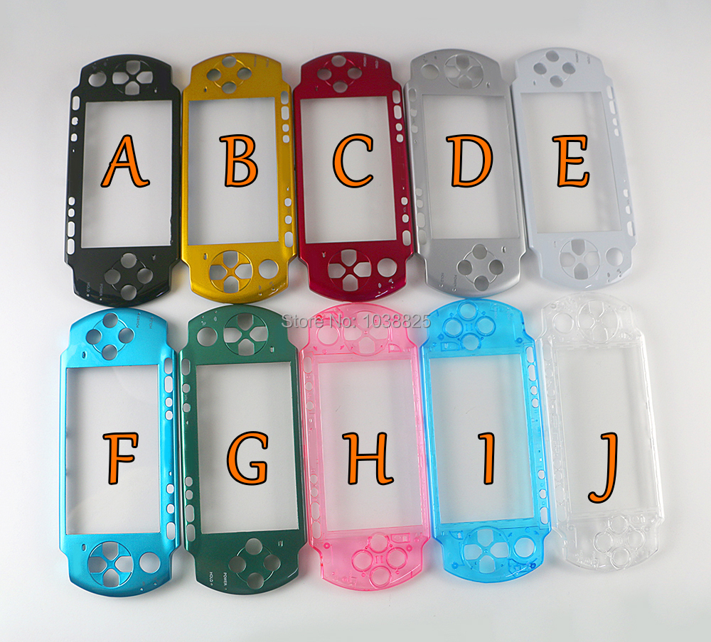 20PCS LOT Front Faceplate Shell Case Cover Proctector Replacement For PSP3000 PSP 3000