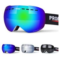 PROPRO Ski Goggles Snow Snowboard Skiing Goggles with Double Layer Anti fog Spherical Large Lens UV Protection for Men Women