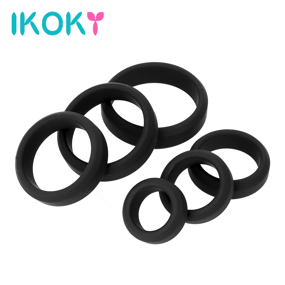 IKOKY Penis Ring Elastic Cock Ring Silicone Sex Toys for Men Male Masturbator Delay Ejaculation Sex Product Various SizeIKOKY Penis Ring Elastic Cock Ring Silicone Sex Toys for Men Male Masturbator Delay Ejaculation Sex Product Various Size