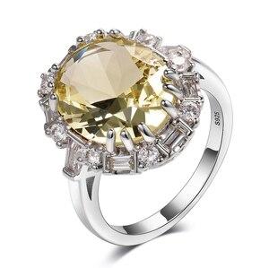 Image 5 - Nasiya utworzono cytrynowe pierścienie z kamieniami szlachetnymi dla kobiet prawdziwe 925 srebro biżuteria pierścionek rocznica ślubu Paty prezent hurtownia