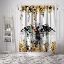 Eagle Print Thick Bathroom Waterproof Mildew Proof Bath Room Bath Tub Shower Curtain Drape Divider Ground Mat Rug Decoration skidproof christmas snowman print bath rug