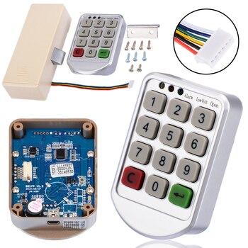 Electronic Digital Password Lock Digital Key Pad Numbers Door Lock Combination Lock for Cabinet Code Password Lock