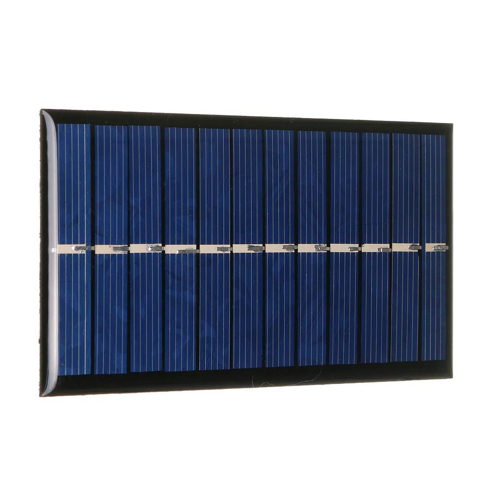 CLAITE <font><b>6V</b></font> <font><b>1W</b></font> DIY <font><b>Solar</b></font> <font><b>Panel</b></font> 60*110mm Polycrystalline Portable Mini Module <font><b>Panel</b></font> System Epoxy Board for Learning image