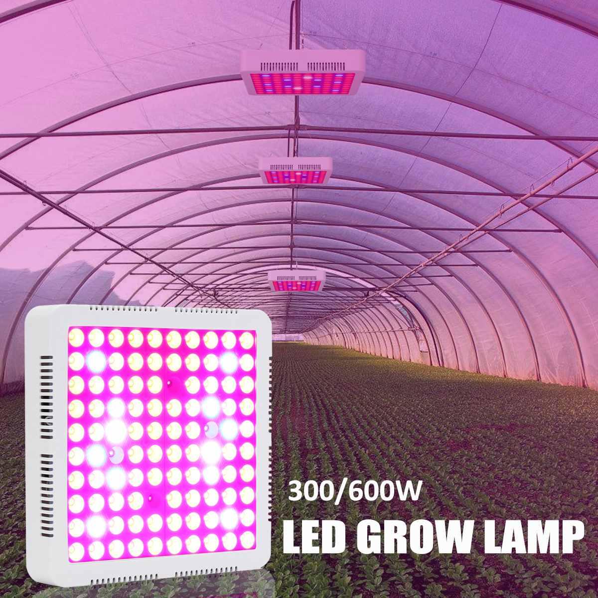 Plein spectre 100 LED S plante poussent lumière LED pour les serres graines fleur Veg hydroponique plante d'intérieur floraison croissance 600 W
