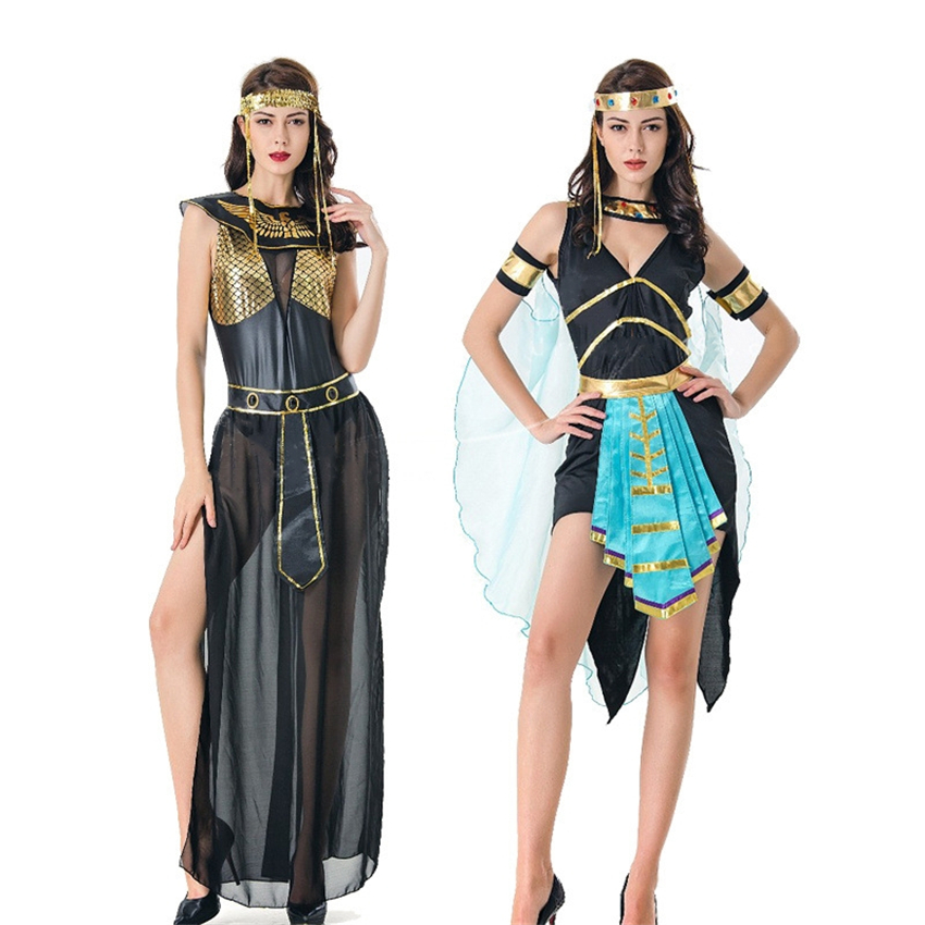 Halloween Costumes Cleopatra Cosplay Sexy Dress for Women Egypt Queen Adult Princess Party Ancient Dress Up Dance Stage Female