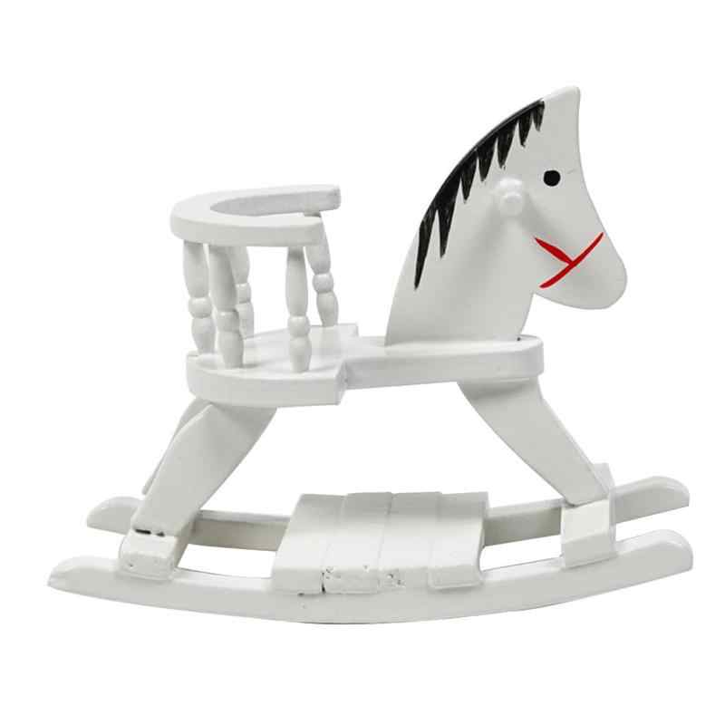 Dollhouse Miniature Kit Super Cute Little Trojan Chair Diy Children's Room Doll House Miniatures 1:12 Accessories Trojan Horse