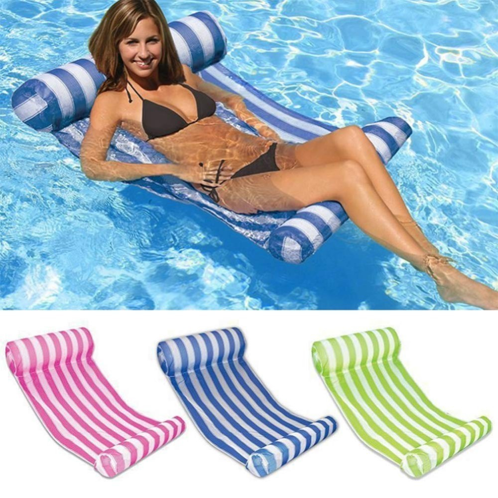 Pool Rafts & Inflatable Ride-ons Constructive Mingkids Summer Water Inflatable Swimming Pool Floats Hammock Lounge Chair Floating Bed Sofa Foldable Pvc Mild And Mellow
