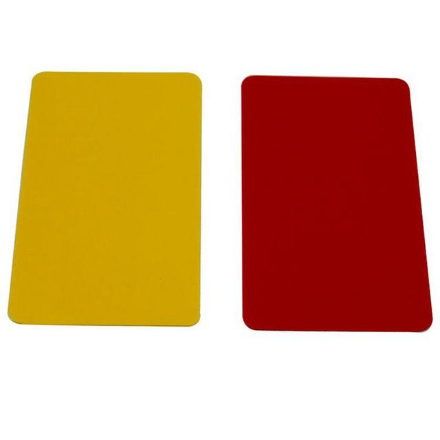 PVC Red Card Yellow Card Football Referee Card Sports Notebook With Pencil Football Supplies Referee Record Penalty Card