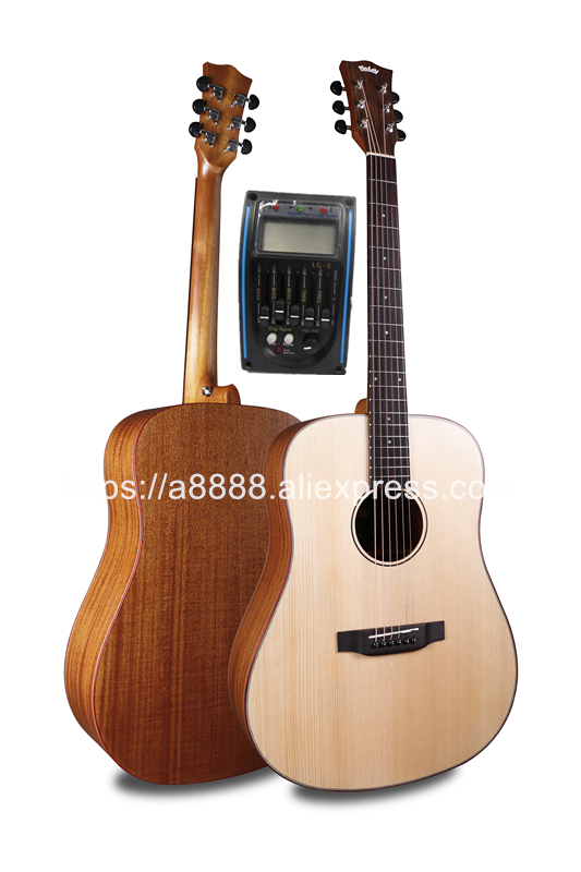 finlay 41 electric acoustic guitar solid spruce top mahogany body guitars china with hard case. Black Bedroom Furniture Sets. Home Design Ideas