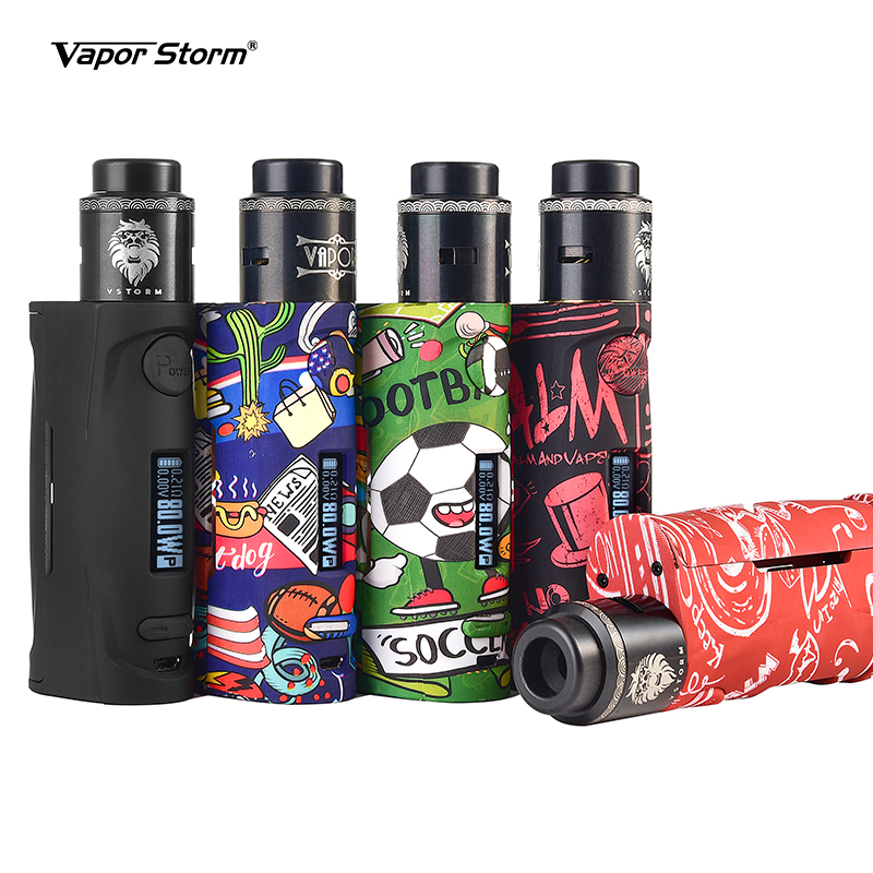 Vapor Storm Puma Baby 80w RDA Electronic Cigarettes Vape Kit OLED Screen Without 18650 Battery Lion DIY Atomizer Airflow Control