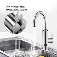 220V Stainless Steel Instant Hot Faucet 3000W Tankless Electric Water Heater Tap Digital Display Household Hot Water Heater Tap