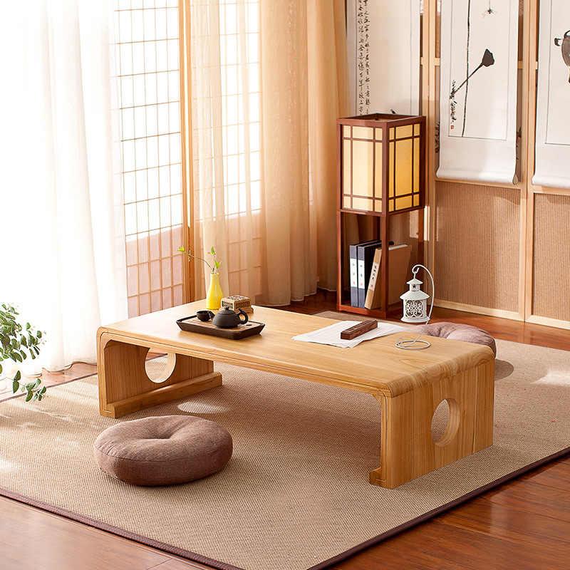 日本ヴィンテージ屋内木製家具アジアンスタイルコーヒー茶リビングルーム低テーブル矩形 60*40 センチメートル畳テーブル HW08