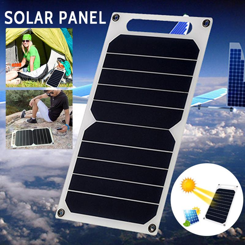 <font><b>10W</b></font> 5V Portable Solar Power Panel <font><b>Charger</b></font> Outdoor travel solar <font><b>charger</b></font> For cell phone Tablet Pad image