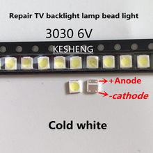 200 pces/lextar retroilluminazione um led ad alta potenza 1.8 w 3030 6 v bianco freddo 150-187lm pt30w45 v1 tv aplicação