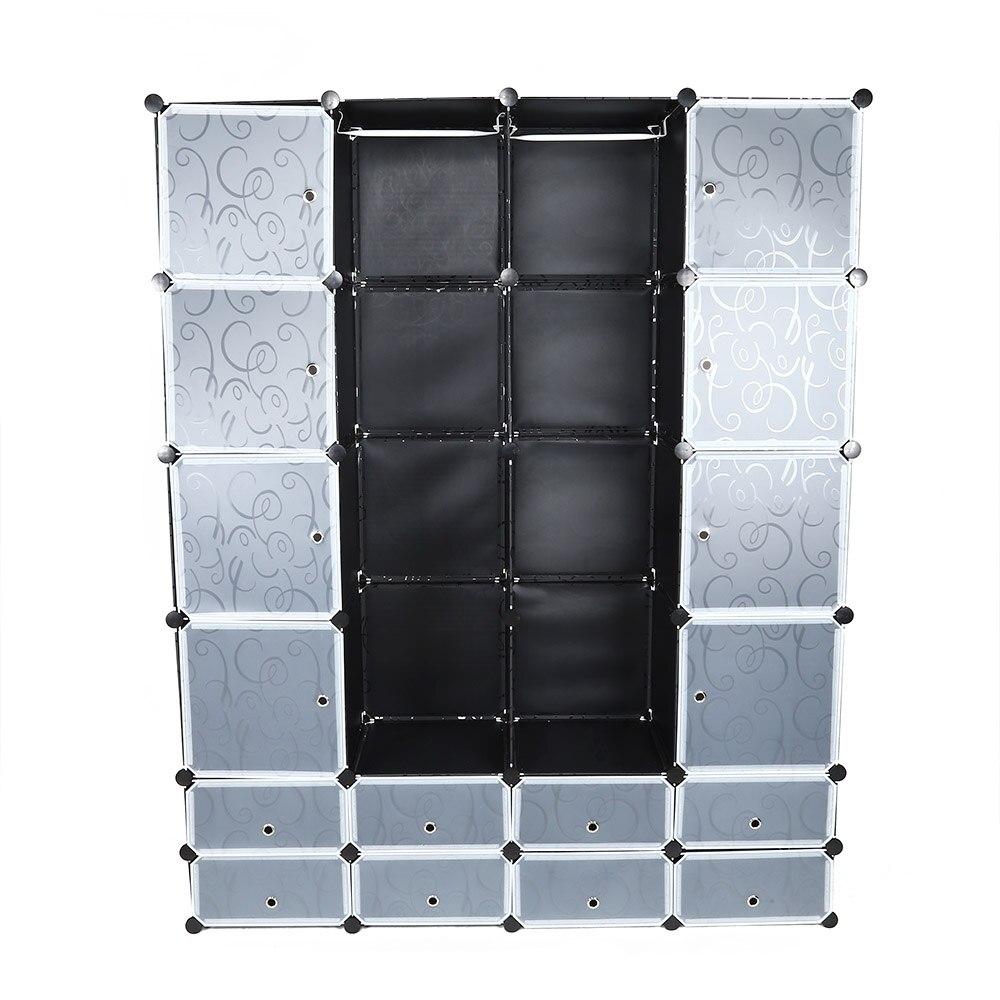 A 20 Cube vêtements placard armoire modulaire haute qualité résine vêtements chaussures stockage Rack organisateur facile à assembler en vente