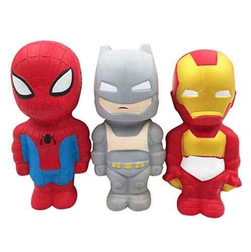 Juguete de superhéroes Squishy de elevación lenta, Iron Man, Spiderman, Squishies de simulación, antiestrés, divertidos Gadgets de juguete para Niños # YC