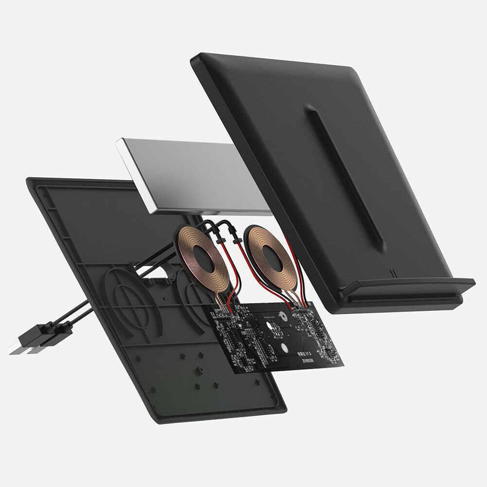 USB порт Беспроводное зарядное устройство модернизированные внутренние автомобильные аксессуары автомобильный держатель Qi двойные телефоны зарядная центральная консоль для Tesla модель 3