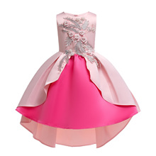 2019 Summer Kids Dress for Girls Wedding Party Girl Dress Elegant Princess Party Pageant Formal Gown fashion baby girls summer elegant bridesmaid wedding sequin bow dress kids formal prom party princess tutu pageant vest dresses