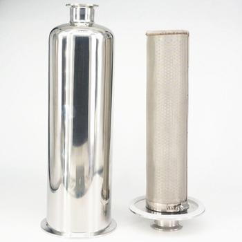 Fit Tube OD 19/25/32/38/51/63mm Pipe Tri Clamp 304/316 Stainless Steel In-line Filter Strainer Brewing 100Mesh