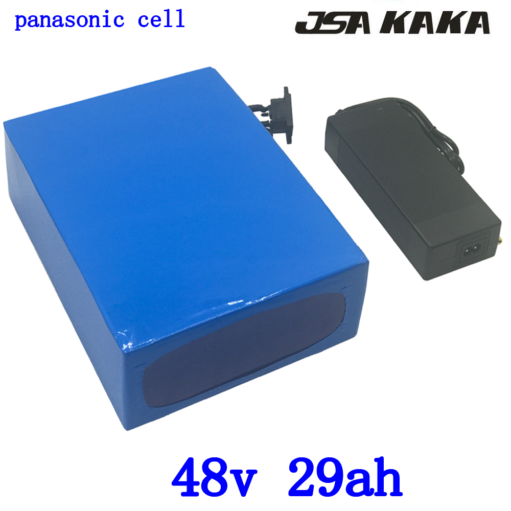 48V 2000W lithium battery 48v 30ah electric bicycle battery 48V 29AH lithium ion battery use panasonic cell with 54.6V charger 48V 2000W lithium battery 48v 30ah electric bicycle battery 48V 29AH lithium ion battery use panasonic cell with 54.6V charger