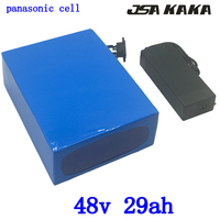 48V 2000W lithium battery 48v 30ah electric bicycle battery 48V 29AH lithium ion battery use panasonic cell with 54.6V charger