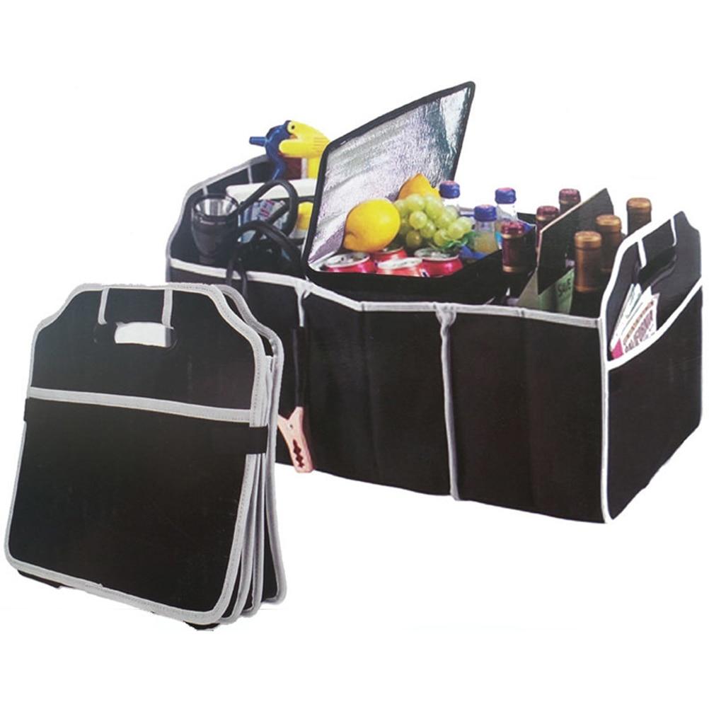 Auto Zubehör Auto Organizer Stamm Faltbare Lebensmittel Lagerung Lkw Fracht Container Taschen Box Schwarz Auto Verstauen Aufräumen Neue