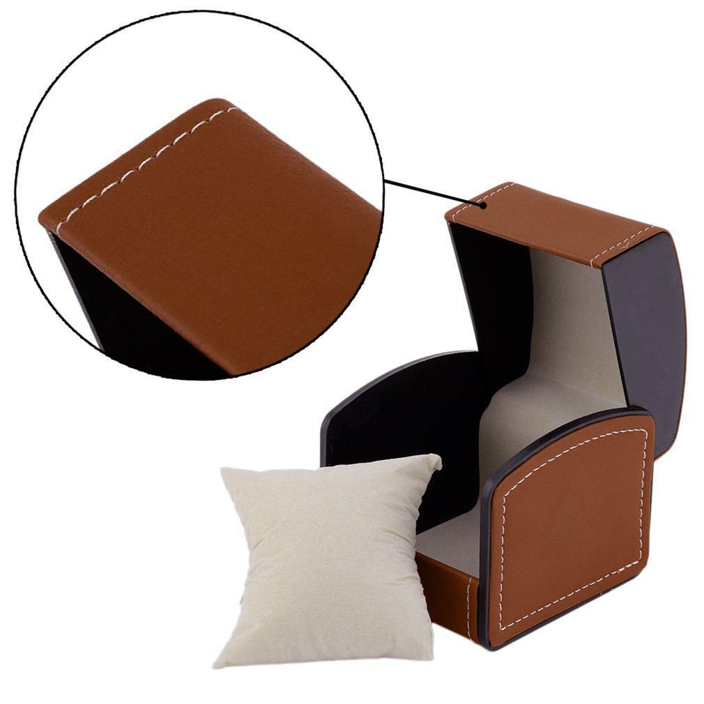 Hot Sale PU Leather Watch Case Jewelry Organizer With Wristwatch Display Storage Case Gift Box High Quality