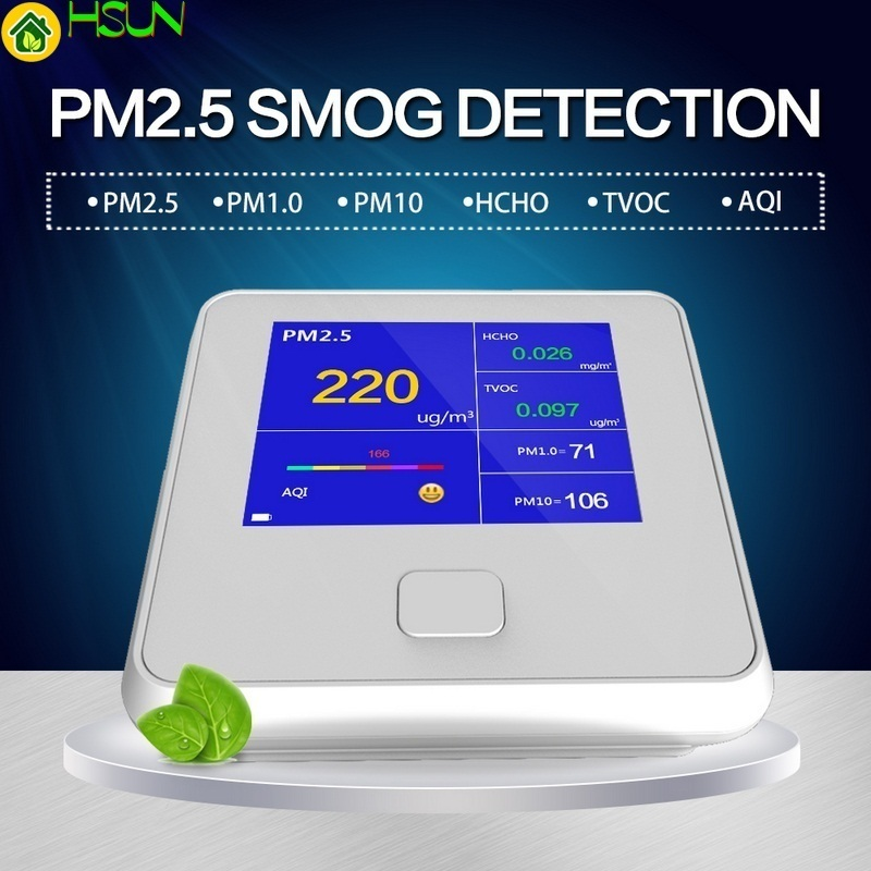 Multi-function Air Detector Portable Gas Sensor Smart Calibration PM2.5 PM10 PM1.0 HCHO Air Quality Monitor Gas AnalyzerMulti-function Air Detector Portable Gas Sensor Smart Calibration PM2.5 PM10 PM1.0 HCHO Air Quality Monitor Gas Analyzer