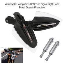 Protectores de mano para motocicleta luz LED intermitente, 2 uds.