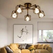 Vintage Retro Kitchen Ceiling LED Light E27 Chandeliers Black Iron Metal Cage Livingroom Diningroom Bedroom Cafe Lamp