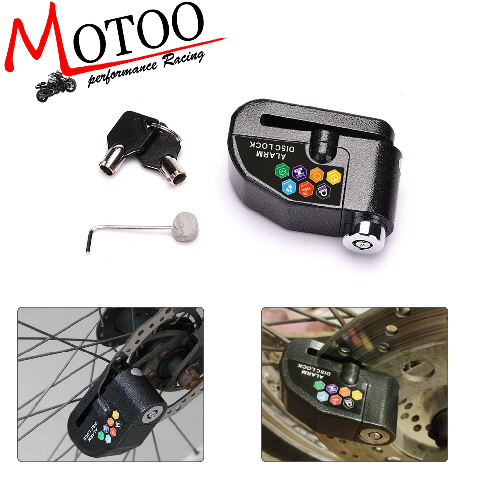 110DB Security Motorcycle Alarm Lock Security Safety Siren Lock Bike Scooter Anti-theft Alarm Wheel Disc Brake Locks