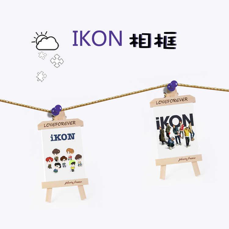 MYKPOP]IKON RERURN Wood Frame + Photo KPOP Fans Collection