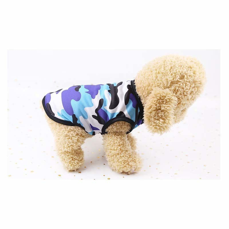 Camouflage Dog Shirt Cheap Dog Clothes For Small Dogs Summer Chihuahua Tshirt Cartoon Puppy Vest Yorkshire Terrier Pet Clothes in Dog Vests from Home Garden