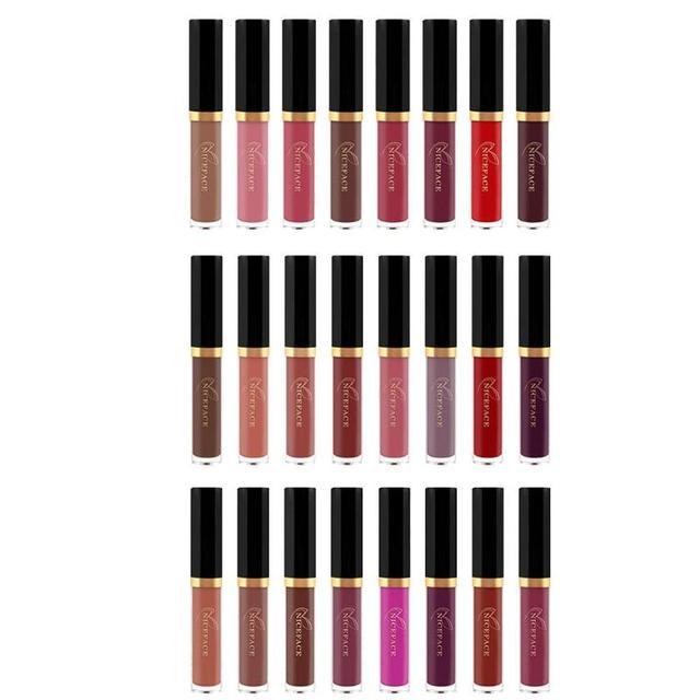 8 colores de labios mate brillo de larga duración barra de labios maquillaje quitar Gel