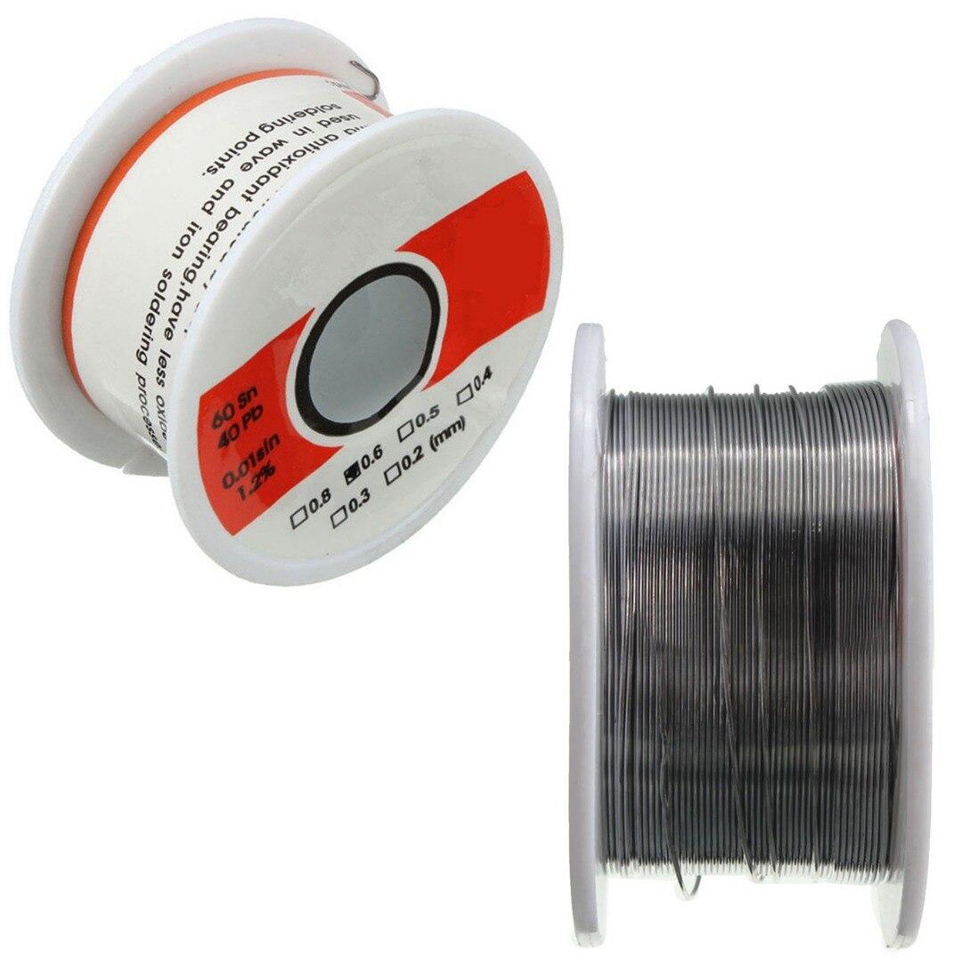 Ossieao Feine Solder Draht 0,3mm 60/40 1.2% Flux Reel Rohr Zinn Blei Kolophonium Kern Löten Schweißdrähte